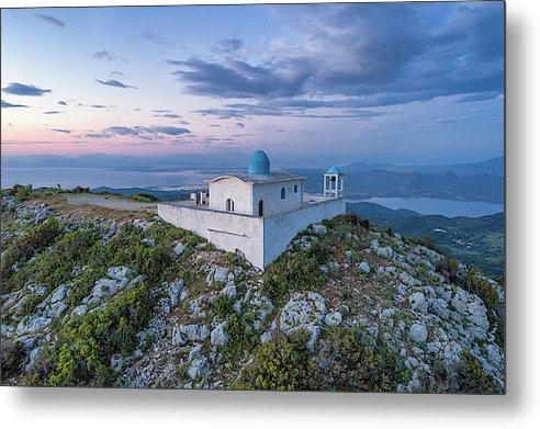 Church Of Profitis Ilias - Metal Print