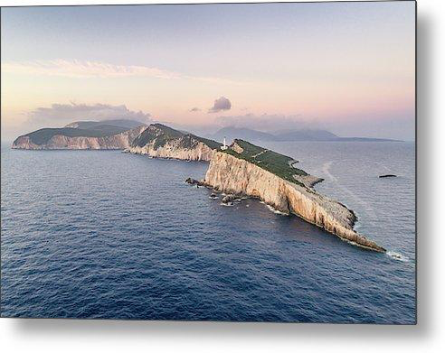 Lefkada From The Sea - Metal Print