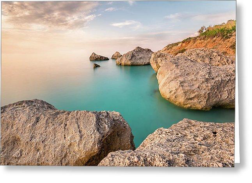 Calm And Serenity At Kavalikefta Beach - Greeting Cards (Pack)