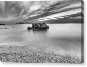 Calm And Storm At Kathisma Beach - Canvas Print