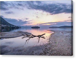 Dawn At Nidri Bay - Canvas Print
