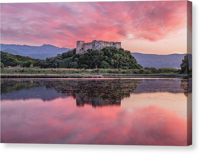 Sunset At Griva Castle - Canvas Print