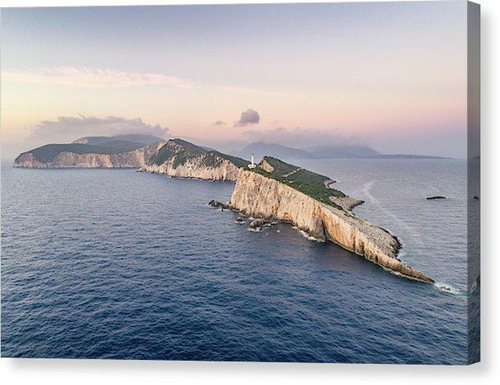 Lefkada From The Sea - Canvas Print