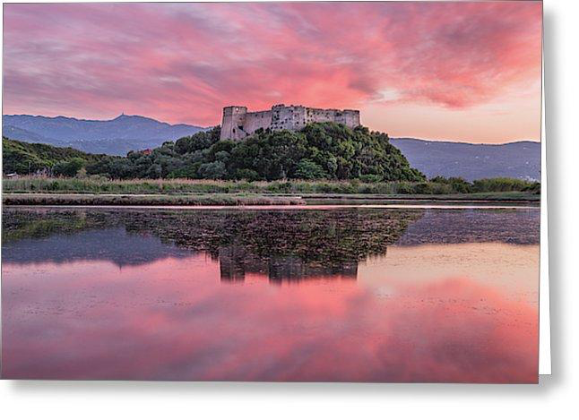 Sunset At Griva Castle - Greeting Cards (Pack)