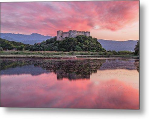 Sunset At Griva Castle - Metal Print