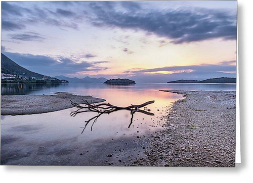Dawn At Nidri Bay - Greeting Cards (Pack)