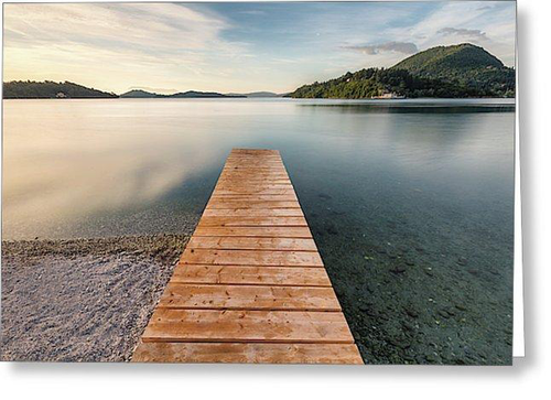 The Path To Serenity At Nidri Bay - Greeting Cards (Pack)