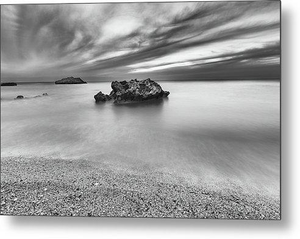 Calm And Storm At Kathisma Beach - Metal Print