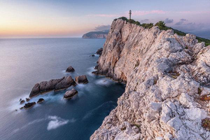 Cape Lefkada At Sunset - Fine Art Print