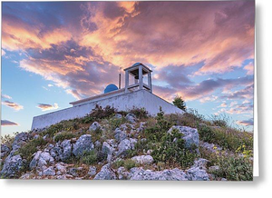 Profitis Ilias At Sunset - Greeting Cards (Pack)