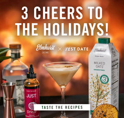 holiday cocktail recipes using Elmhurst Nut Milk and Just Date Syrup