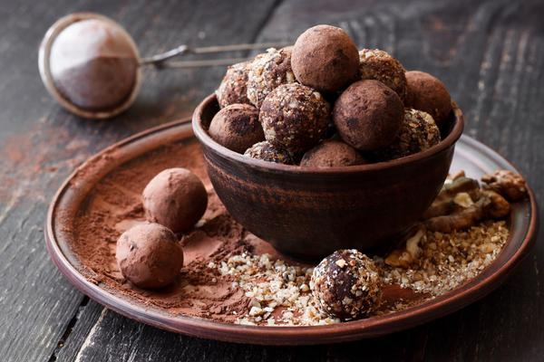 Vegan Dark Chocolate Hazelnut Truffles