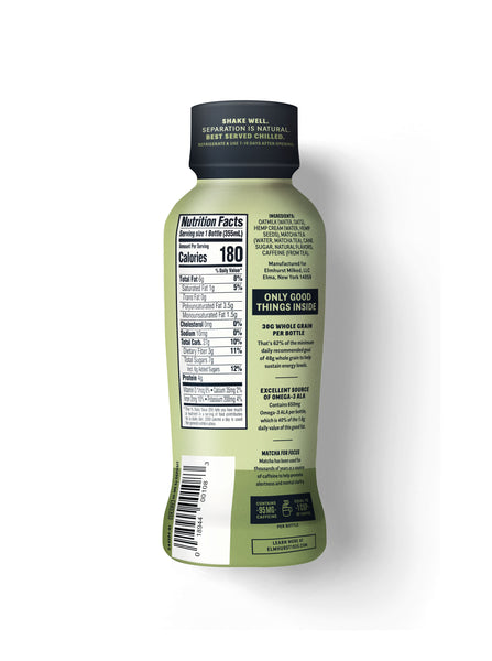 Elmhurst Oat Latte - Matcha, 12oz Single-Serve Nutrition Facts
