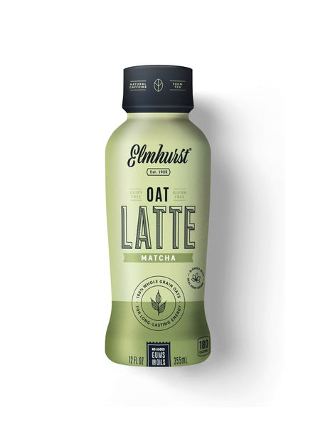 Elmhurst Oat Latte - Matcha, 12oz Single-Serve