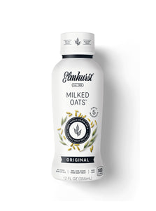 Elmhurst's Original Oat Milk in a 12oz Single-Serve Bottle (Milked Oats™)