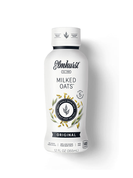 Elmhurst's Original Single-Serve Oat Milk, 12oz Bottle