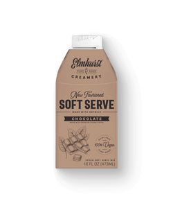 dairy-free and vegan friendly soft-serve chocolate ice cream mix, 16oz