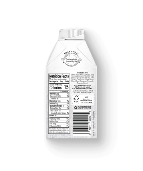 Dairy-Free Gingerbread Coffee Creamer, 16oz Nutritional Facts (Best By: 05/30/21)