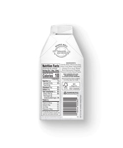 Nutrition Facts of Elmhurst's Original Unsweetened Oat Creamer, 16oz