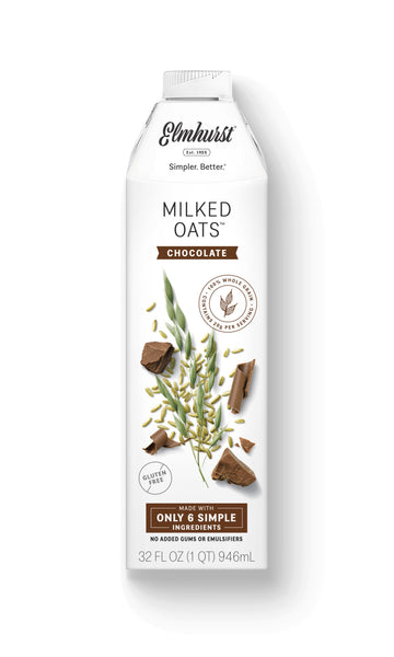 Elmhurst Chocolate Milked Oats™, 32oz Carton - Dairy-Free Chocolate Oat Milk
