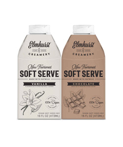 soft-serve dairy-free ice cream mix variety pack, 16oz each (chocolate and vanilla)