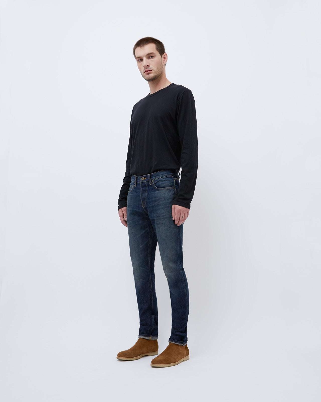 The Henley Denim in MB14 Selvage