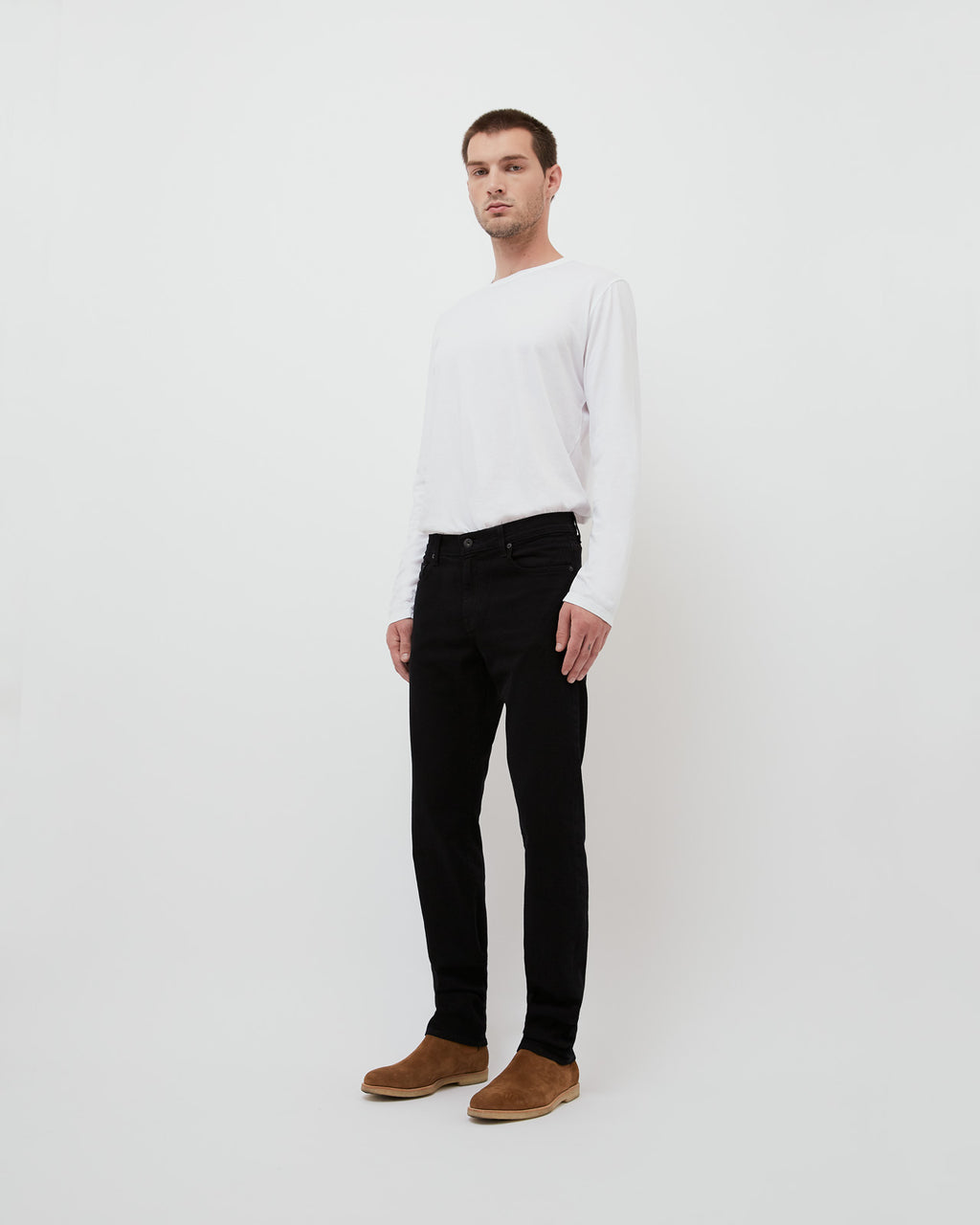 The Henley Jean in Black