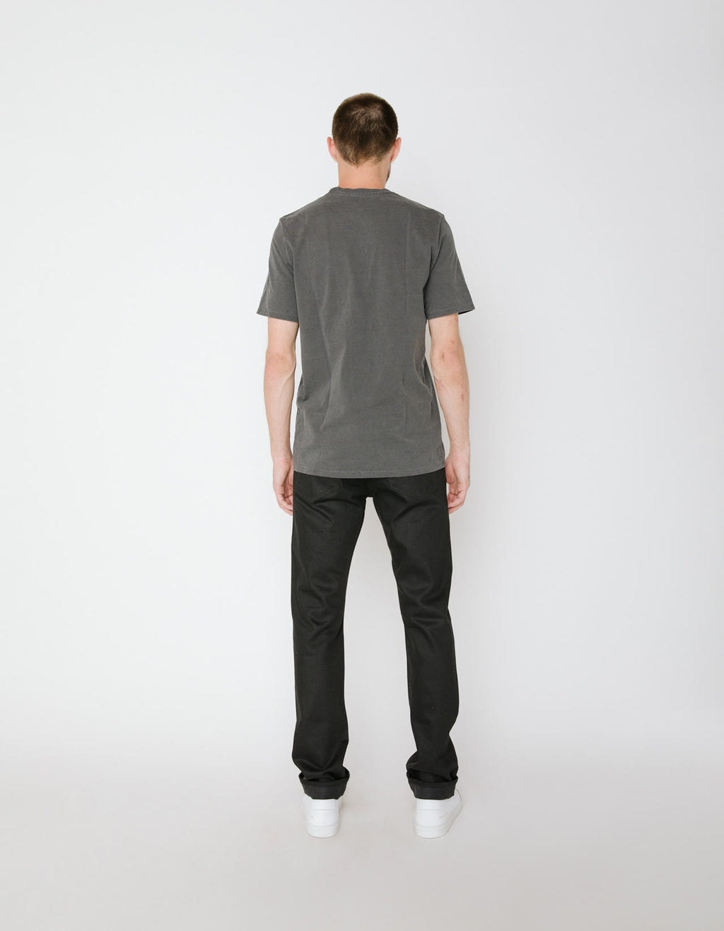 The Henley Jean in Black Raw Stretch Selvage