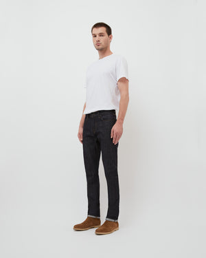 The Henley Jean in Indigo Raw Stretch Selvedge