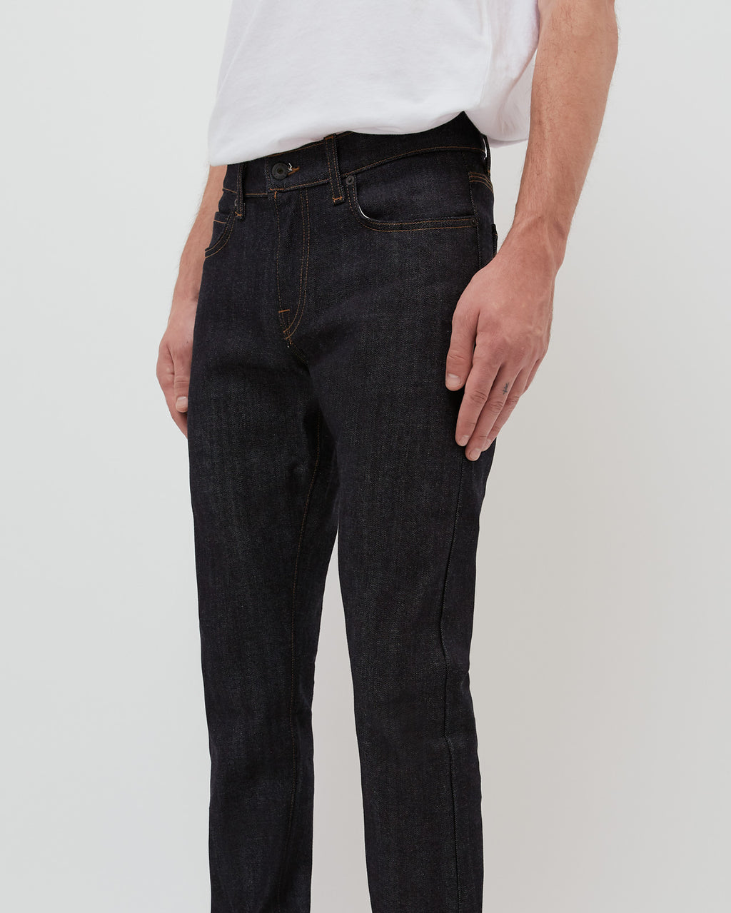 The Henley Jean in Indigo Raw Stretch Selvage