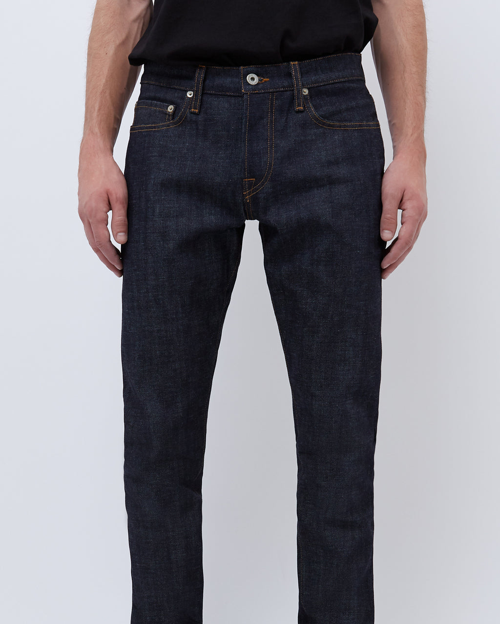 The Henley Jean in Indigo Raw Selvage