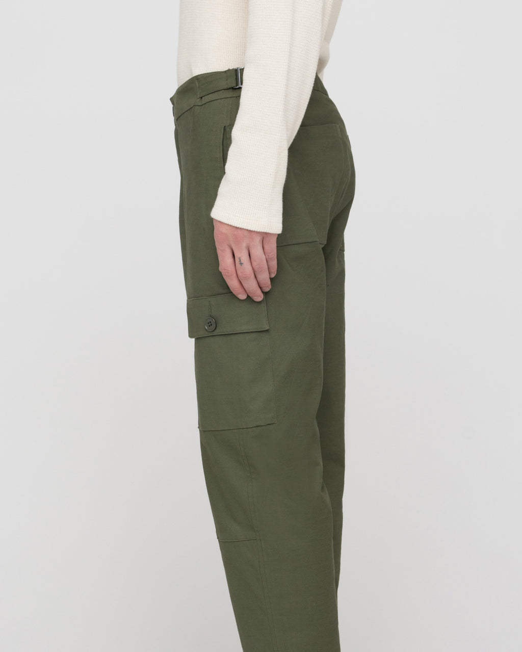 The Arabella Pant in Olive Green