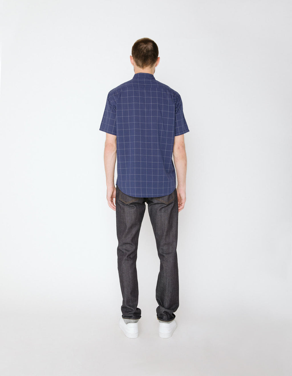 The Raymoore Shirt in Blue Windowpane