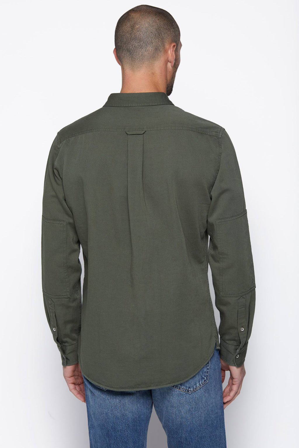 The Wallace Button-Up in Military Green