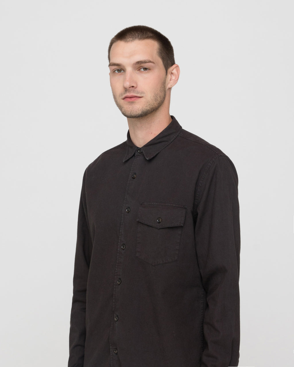 The Greer Shirt in Black