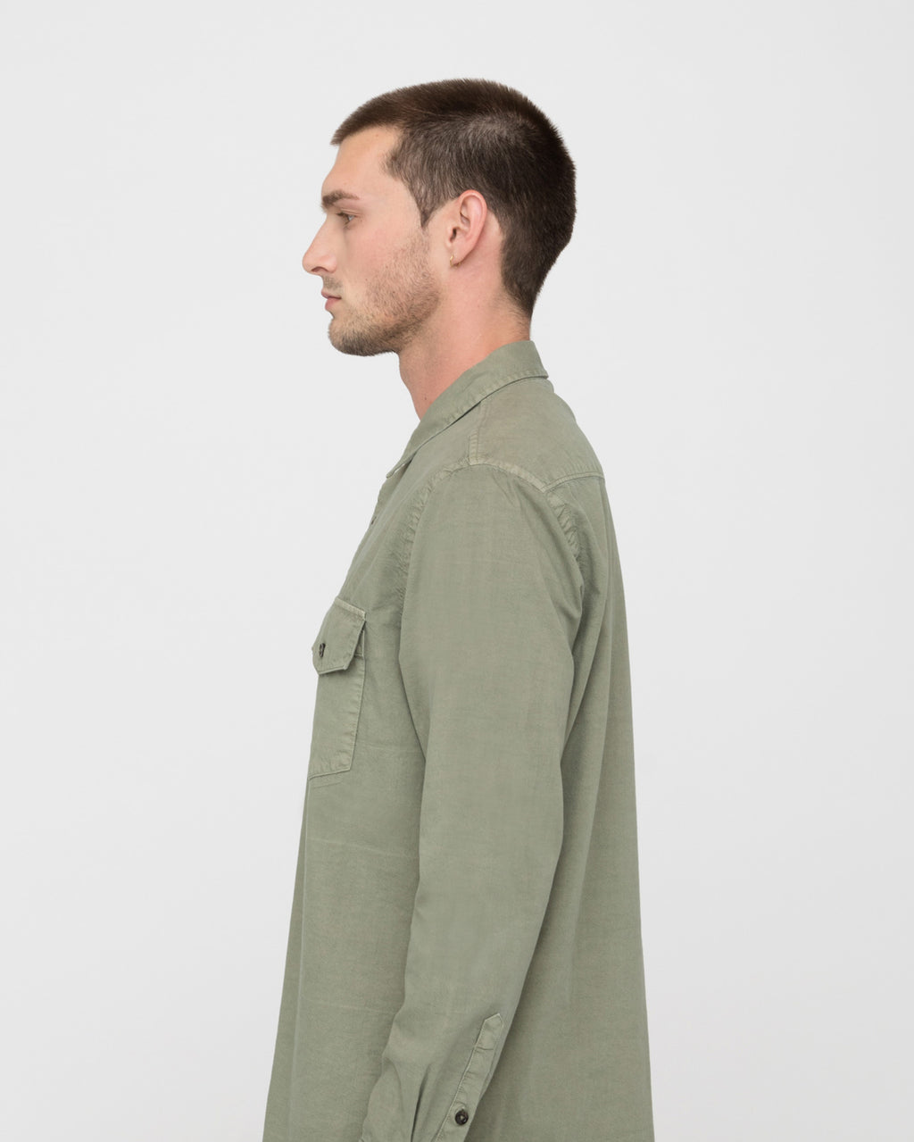 The Greer Shirt in Olive