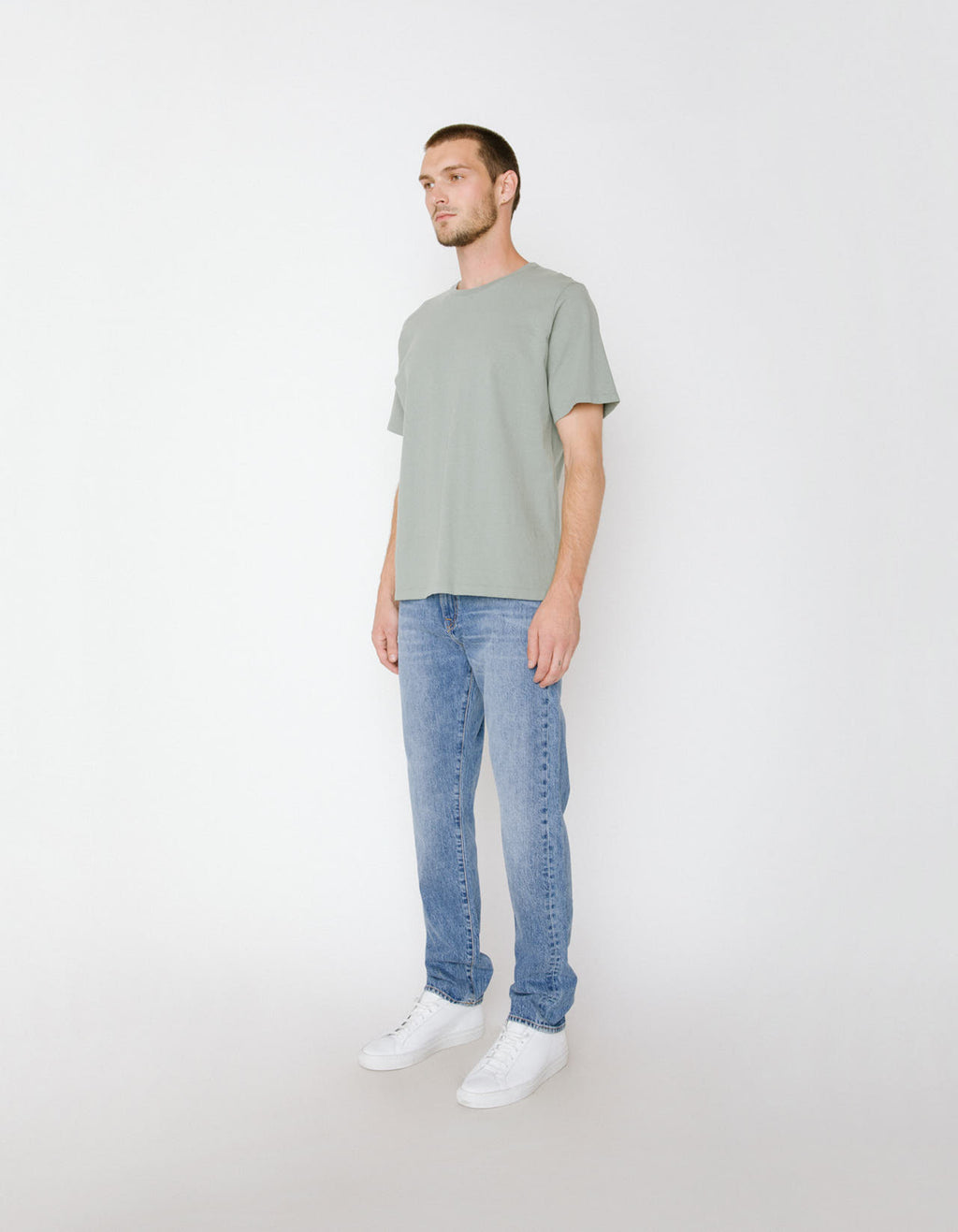The Scout Crew Neck Tee in Sage