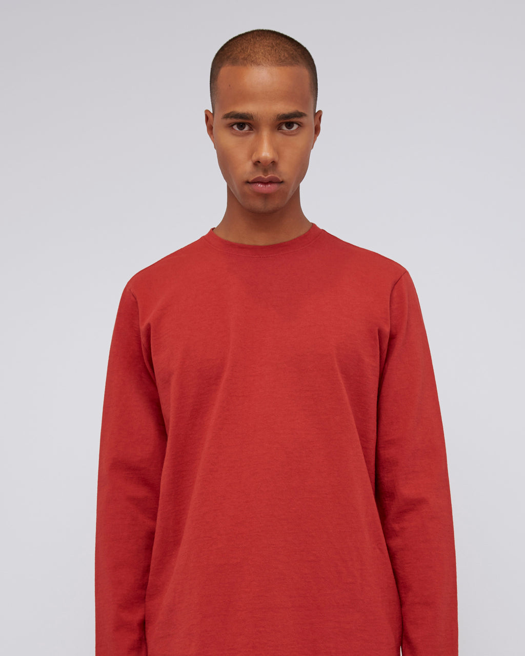 The Long Sleeve Scout Tee in Red
