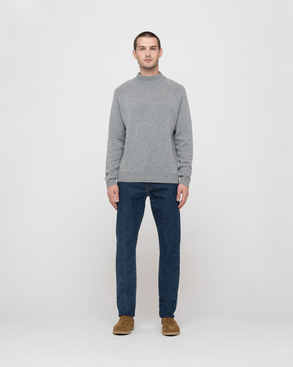 The Altos Sweater in Heather Grey