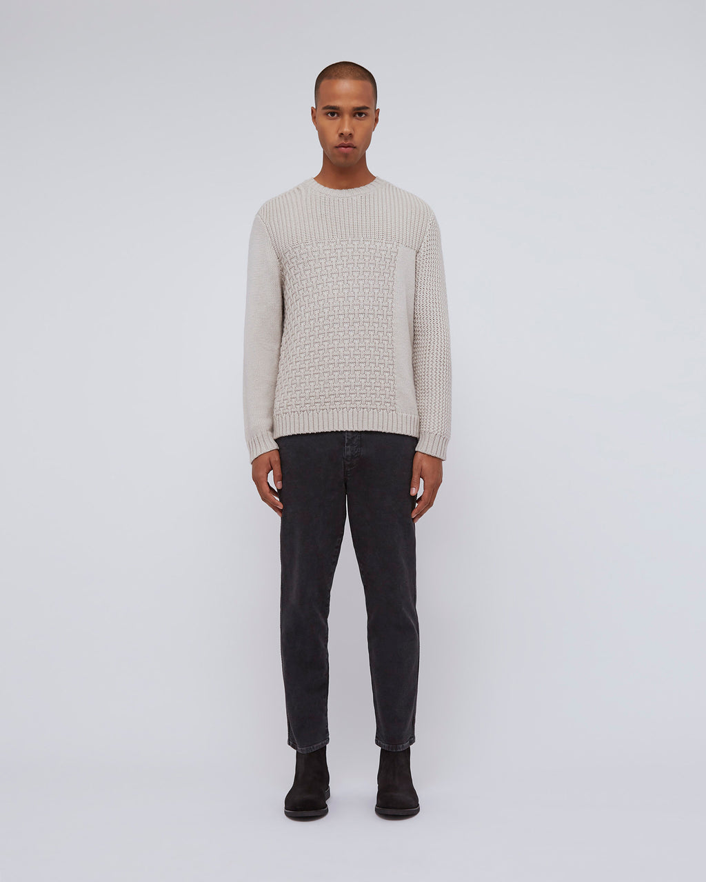The Tierney Sweater In White