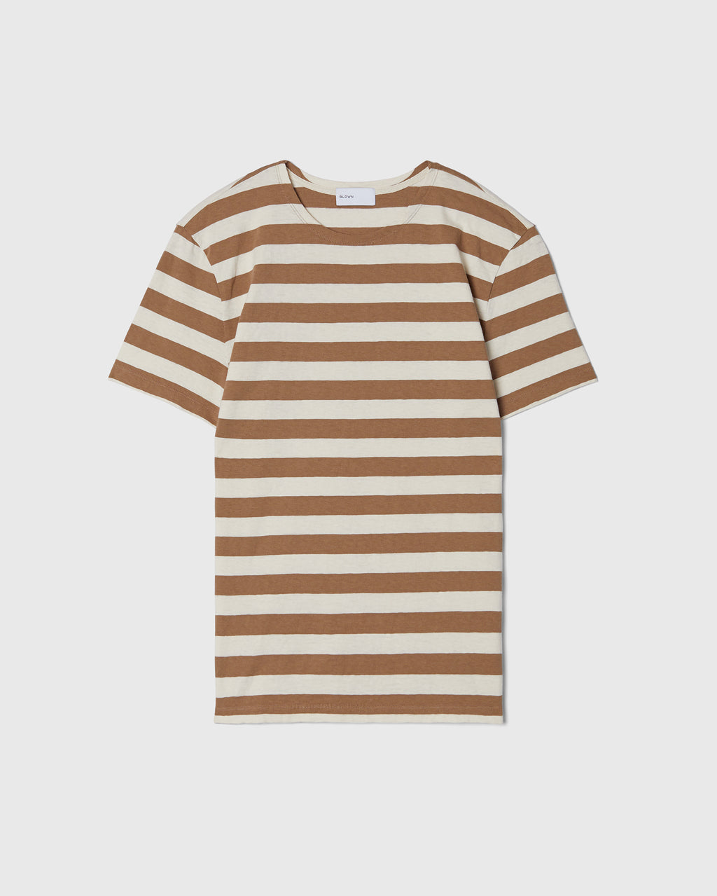 The Adam Tee in Khaki Stripe
