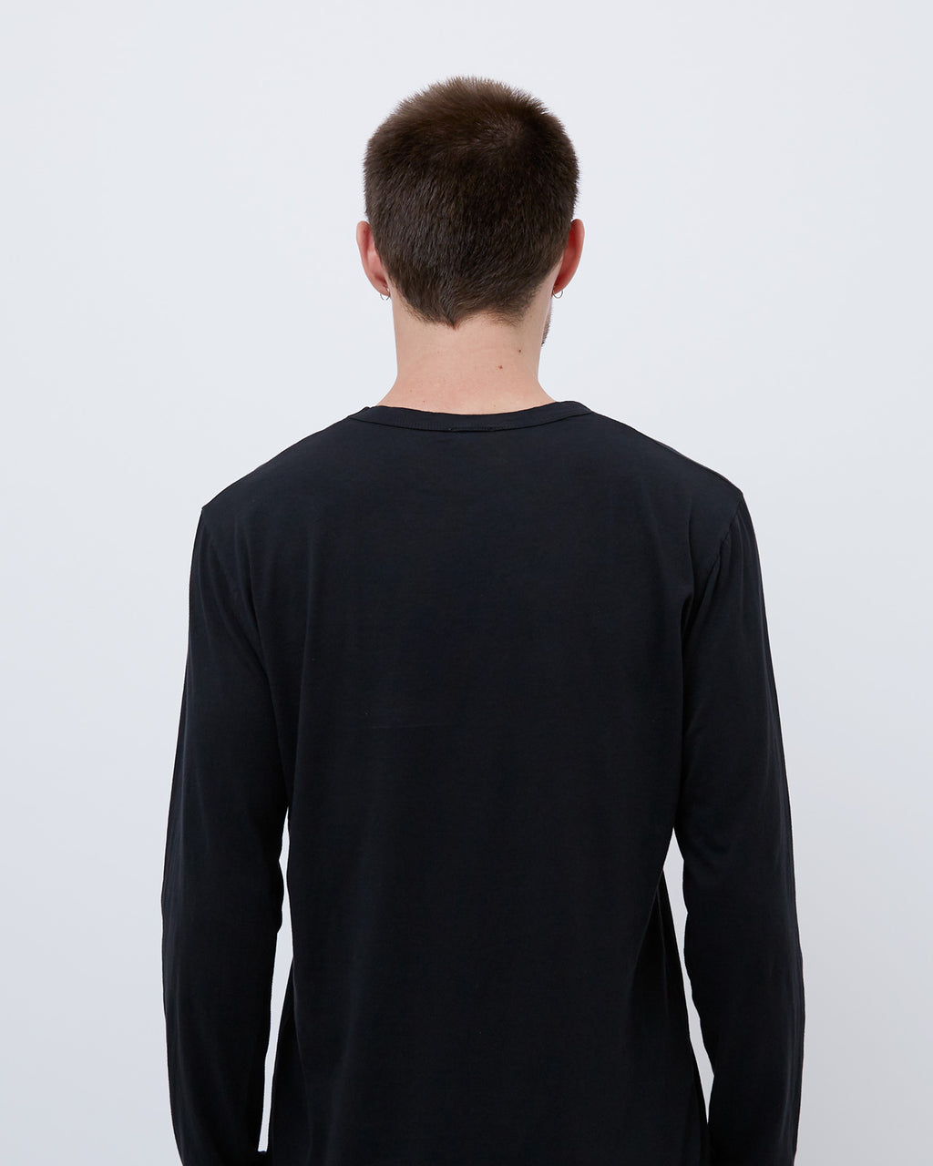 The Long Sleeve Crew Neck Tee in Black