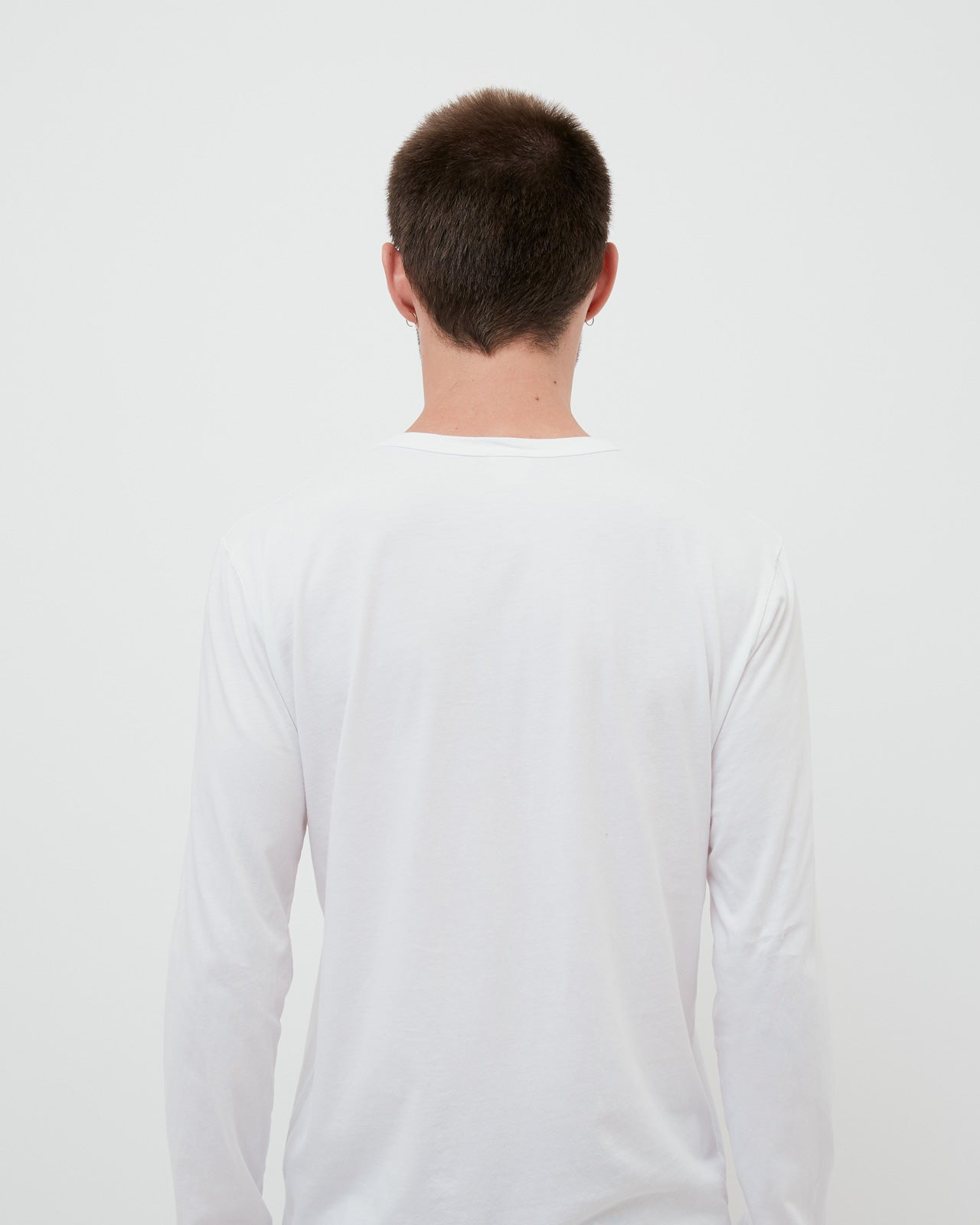 The Long Sleeve Crew Neck Tee in White
