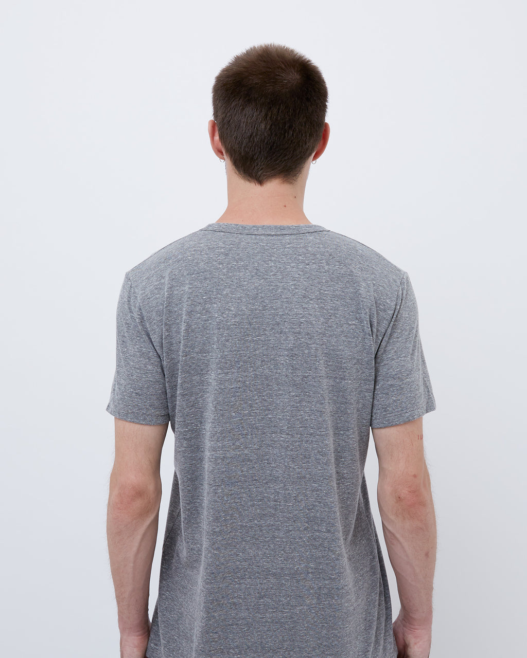 The Crew Neck Tee in Heather Grey
