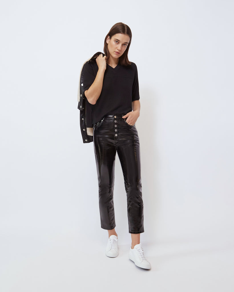 The Parker Leather Pant in Black