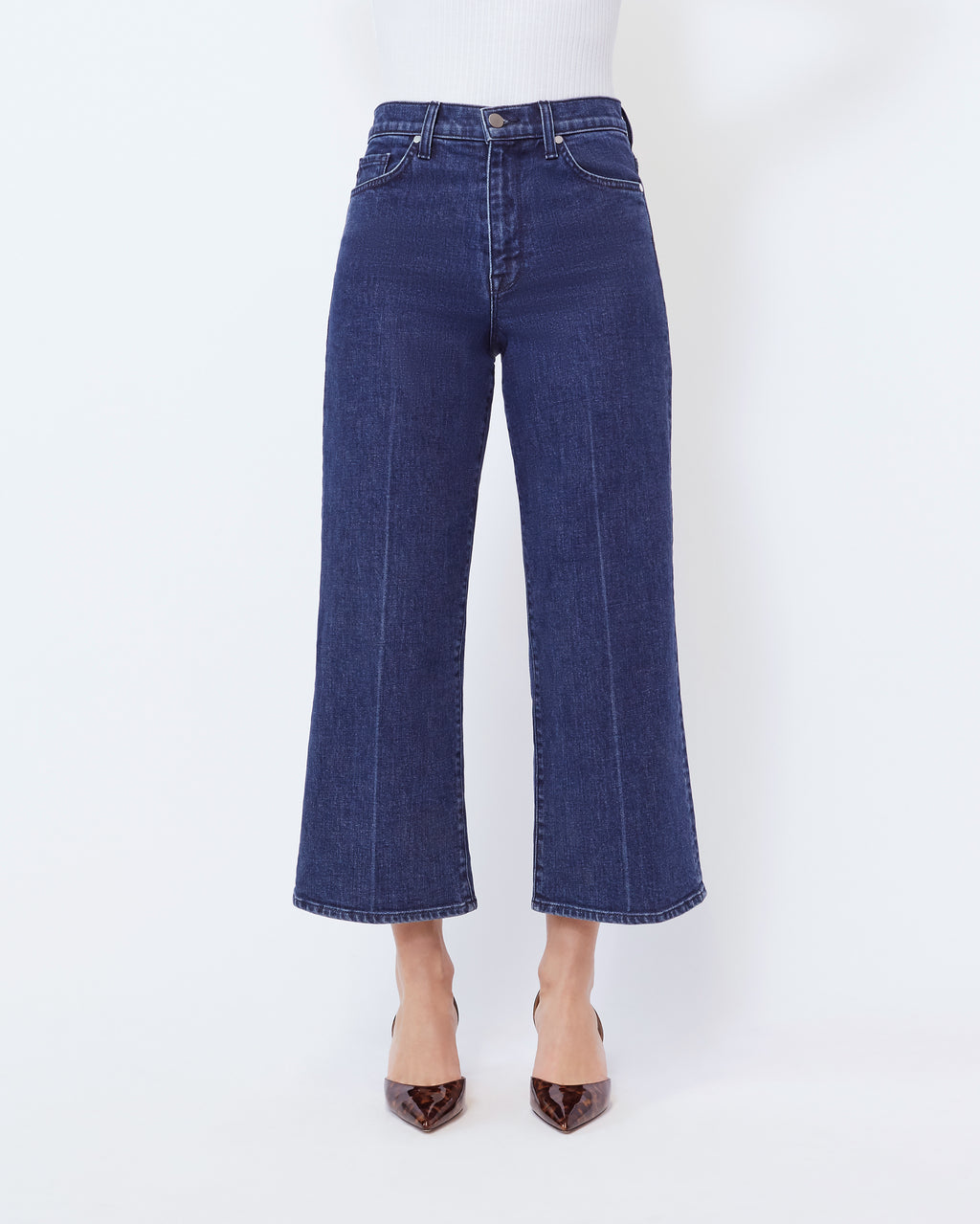 The Cropped Wide Leg Jean in Aura