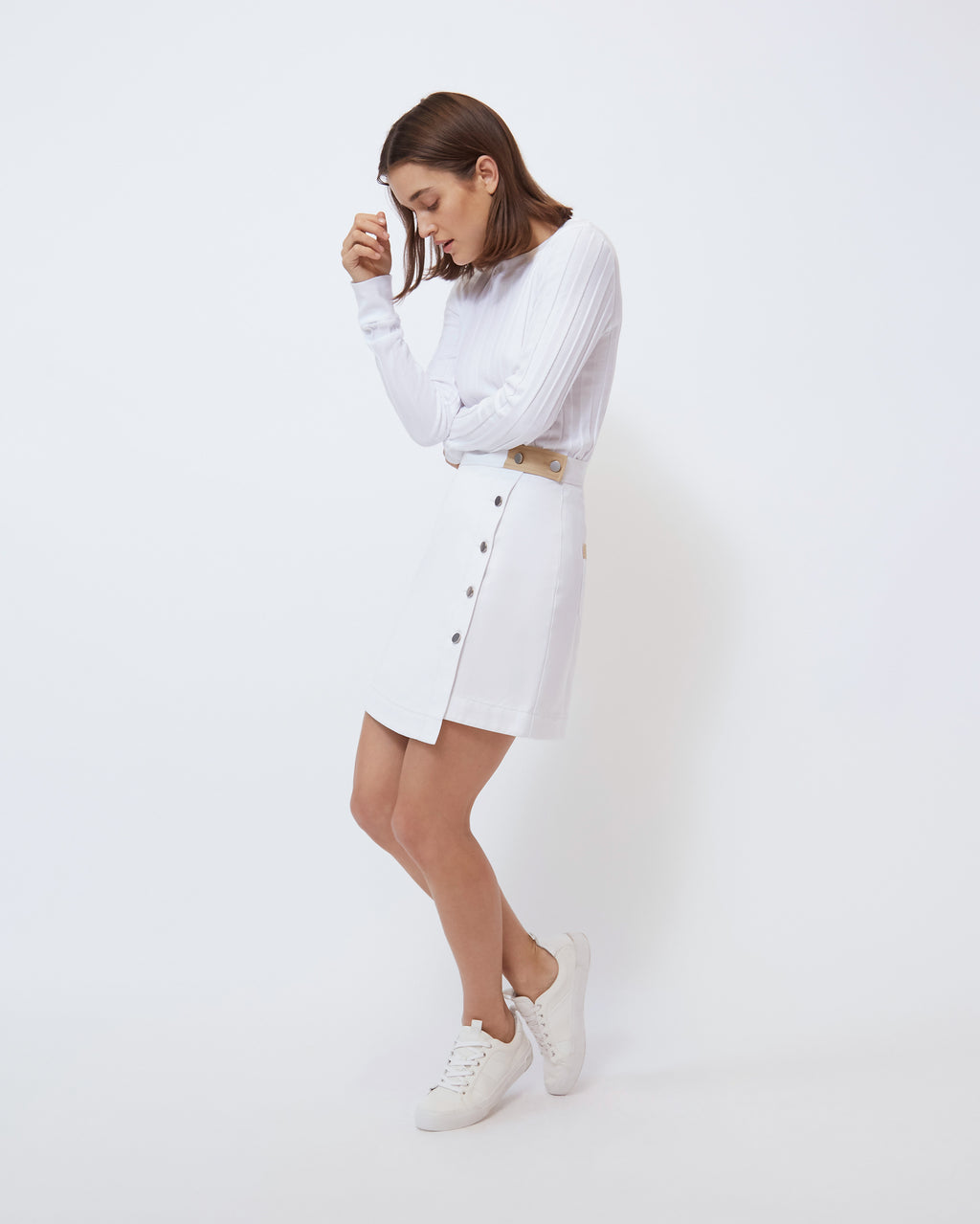The Alexis Skirt in Optic White