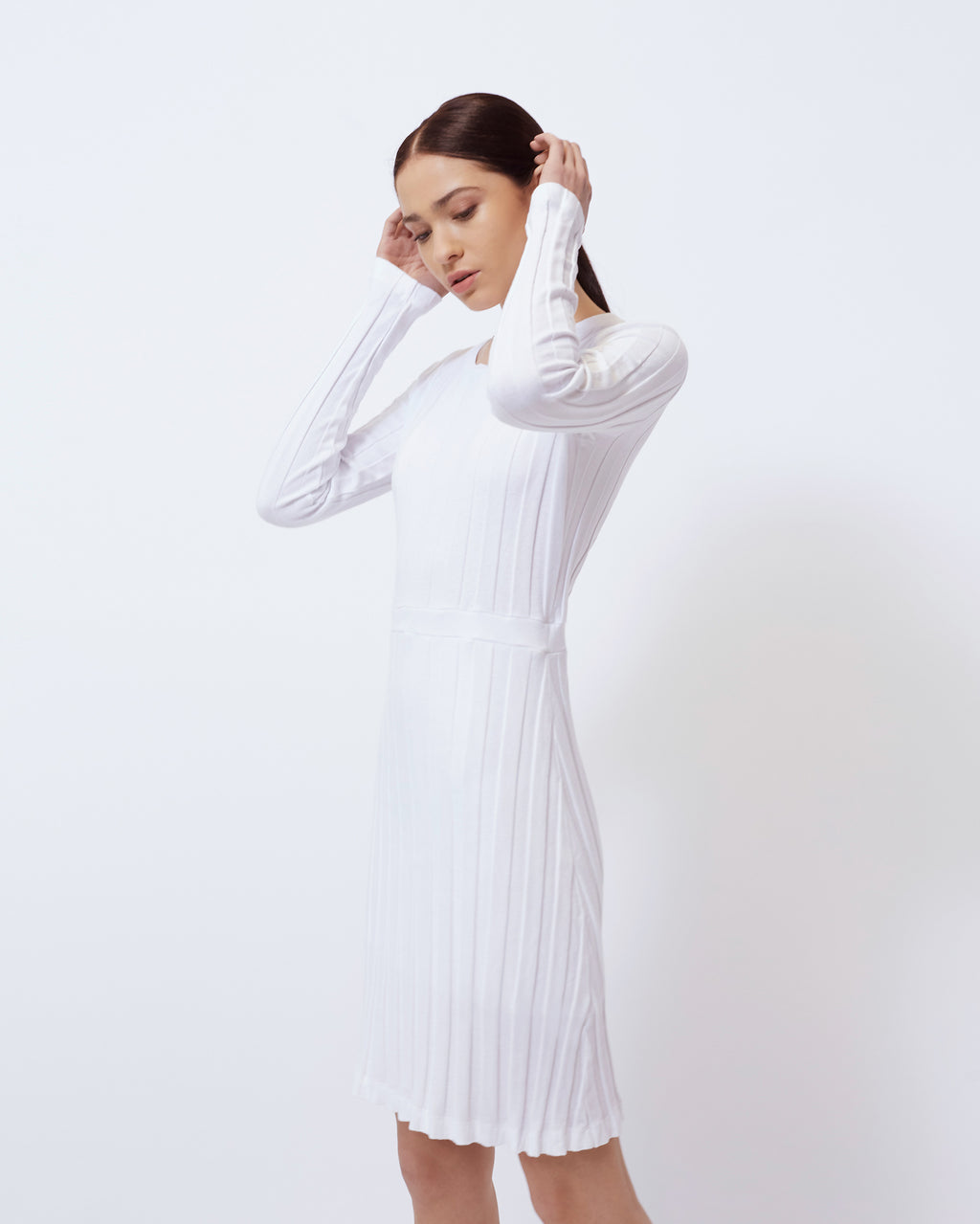The Ora Dress in Optic White