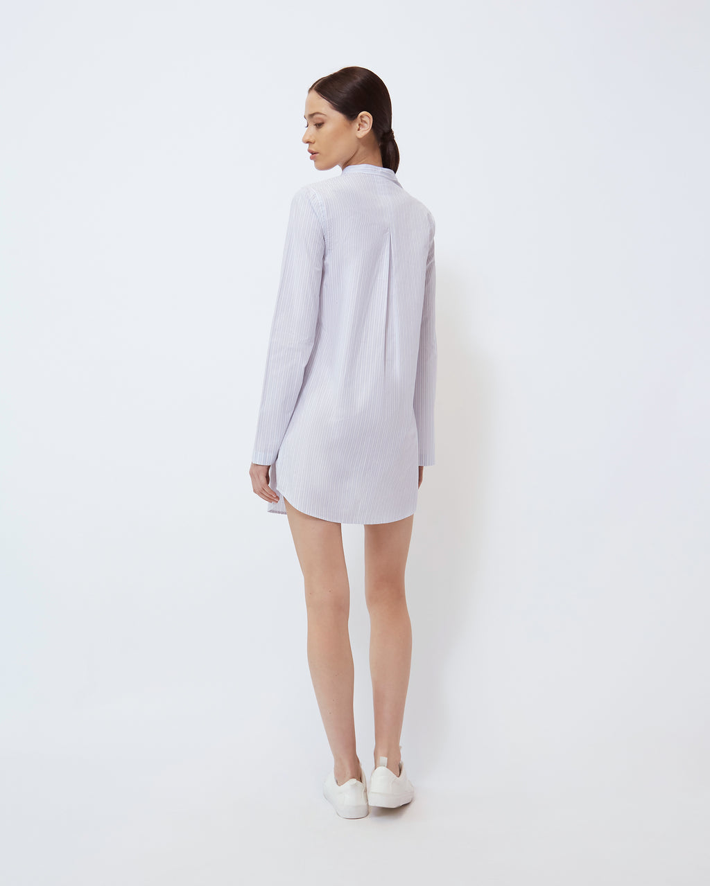 The Ellis Dress in Skylight/Optic White