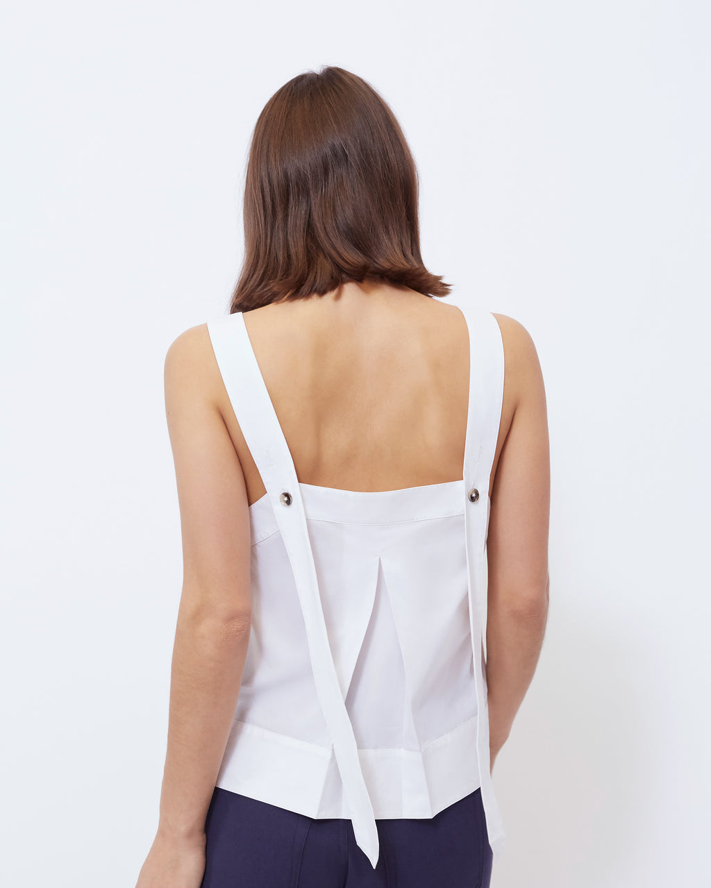 The Camille Tank in Optic White